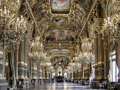 Palais Garnier Grand Foyer Art Print