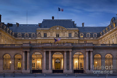 Photograph - Palais Royal Night by Brian Jannsen