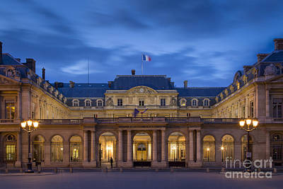 Photograph - Palais Royal Twilight - Paris by Brian Jannsen