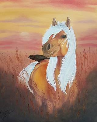 Horse Painting - Palamino  by Kimberly Faith art