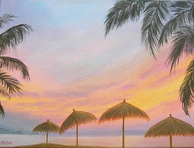 Painting - Palapa Point by Mishel Vanderten