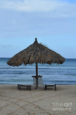 Photograph - Palapas Deserted On Eagle Beach In Aruba by DejaVu Designs