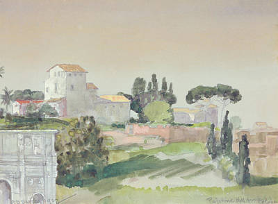 Italian Landscapes Drawing - Palatine Hill From The Colosseum by Arthur Bowen Davies