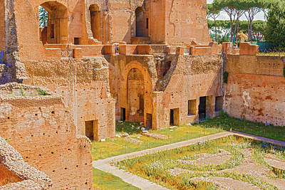 Augustana Photograph - Palatine Hill, Rome, Italy by Marek Poplawski