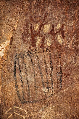 Photograph - Palatki Pictographs1 Txt by Theo O'Connor