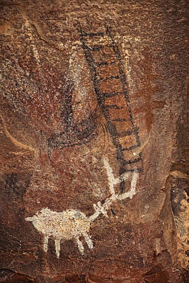 Photograph - Palatki Pictographs4 Txt by Theo O'Connor