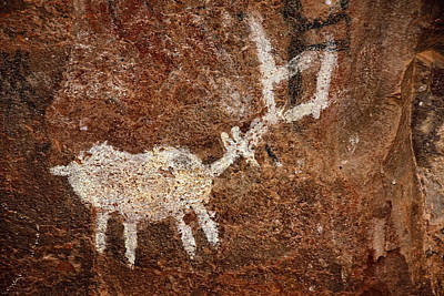 Photograph - Palatki Pictographs5 Txt by Theo O'Connor