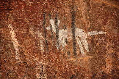 Photograph - Palatki Pictographs6 Txt by Theo O'Connor