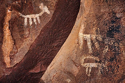 Photograph - Palatki Pictographs9 Txt by Theo O'Connor