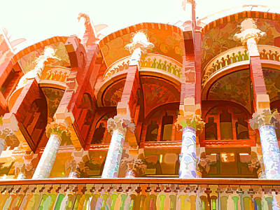 Palau De La Musica Catalana Window Art Print by Lanjee Chee