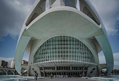 Photograph - Palau De Les Arts Reina Sofia Opera Valencia by Henri Irizarri