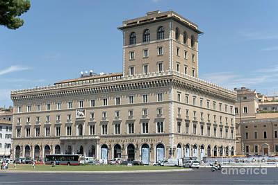 Photograph - Palazzo Delle Assicurazioni Generali In Rome by Fabrizio Ruggeri