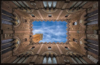 Photograph - Palazzo Pubblico - Siena - Nv by Frank Smout Images