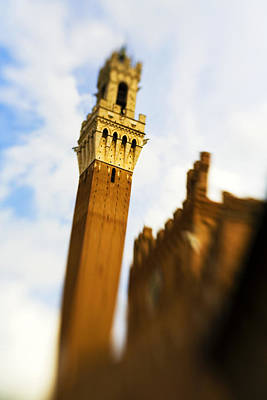 Photograph - Palazzo Pubblico Tower Siena Italy by Marilyn Hunt