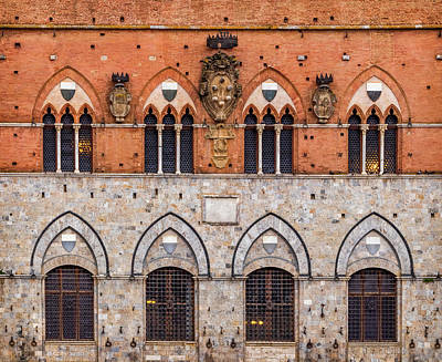 Photograph - Palazzo Pubblico Wall by Carolyn Derstine