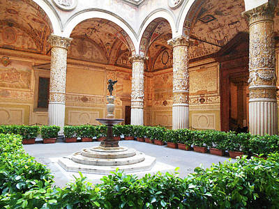 Digital Art - Palazzo Vecchio Interior  by Irina Sztukowski