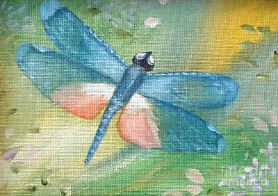 Painting - Pale Blue Beauty by Peggy Miller