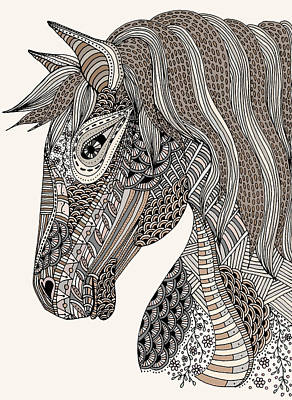 Drawing - Pale Equine by Linda Tetmyer