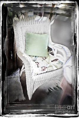 Photograph - Pale Green Pillow Chair by Craig J Satterlee