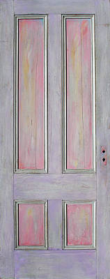 Painting - Pale Lilac And Pink Door by Asha Carolyn Young