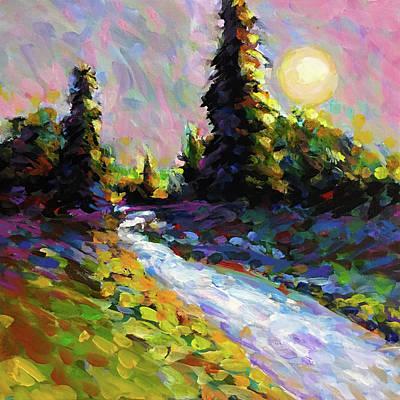 Wall Art - Painting - Pale Moon Rising by Charles Wallis