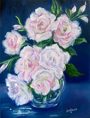 Pastel - Pale Pink Seduction Roses by Barbara O'Toole