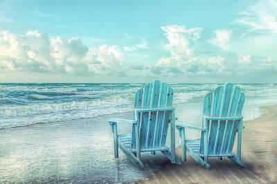 Photograph - Pale Seaside Blues by Debra and Dave Vanderlaan