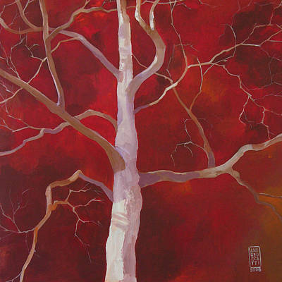 Tree Wall Art - Painting - Pale Shade Of Winter by Alessandro Andreuccetti