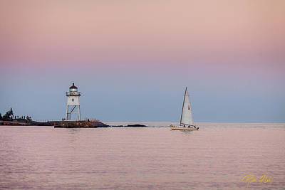 Photograph - Pale Sunset Heading To Dock by Rikk Flohr