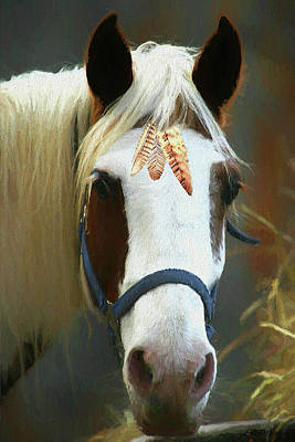 Painting - Paleface Horse - Painting by Ericamaxine Price