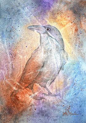 Painting - Paleoimpression Raven 2 by Marsha Karle