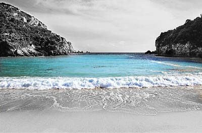 Photograph - Paleokastritsa Beach Corfu by Paul Cowan