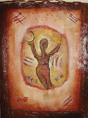 Painting - Paleolithic Goddess by Shelley Bain