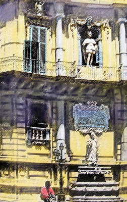 Digital Art - Palermo Corner by Ian  MacDonald