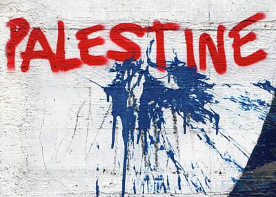 Photograph - Palestine In Blue by Munir Alawi
