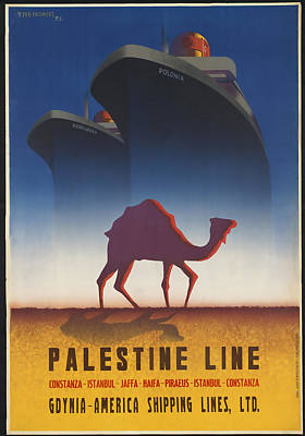 Shipping Mixed Media - Palestine Line by David Wagner