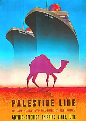 Photograph - Palestine Line by Munir Alawi