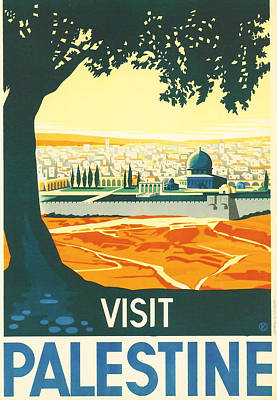 Tourism Digital Art - Palestine by Georgia Fowler