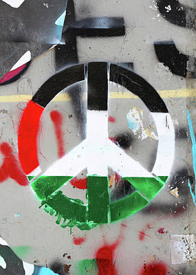 Photograph - Palestine Peace Sign by Munir Alawi