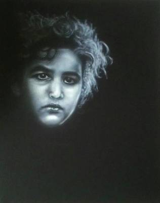 Painting - Palestinian Girl by Bas Hollander