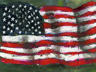 Painting - Palette Flag by Craig Stevens