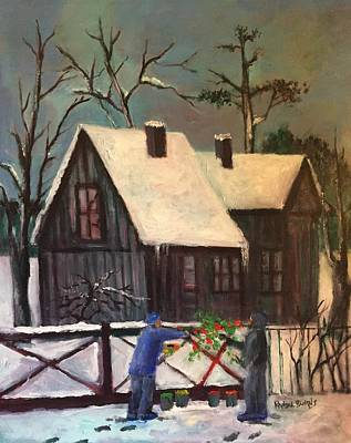 Painting - Palette In The Snow by Randol Burns