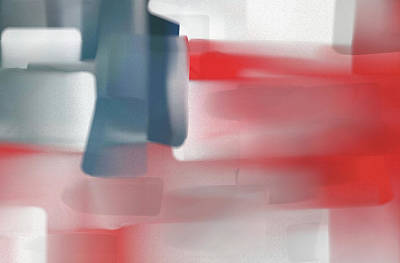 4th Of July Painting - Palette Knife Abstract American Flag by Dan Sproul