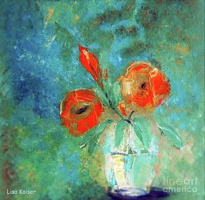 Digital Art - Palette Knife Floral Painting by Lisa Kaiser