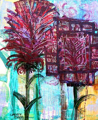 Palette Knife Flowers Original by Genevieve Esson
