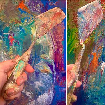 Painting - Palette Knife by Heather Roddy