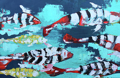 Painting - Palette Koi 1 by Nicole Gaitan