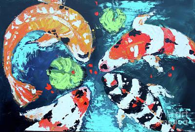 Painting - Palette Koi 2 by Nicole Gaitan
