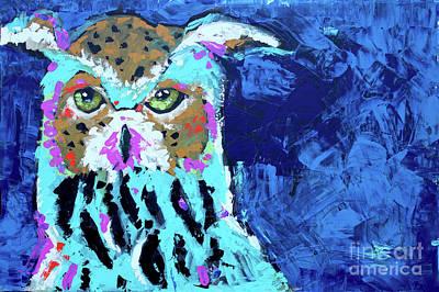Painting - Palette Owl by Nicole Gaitan