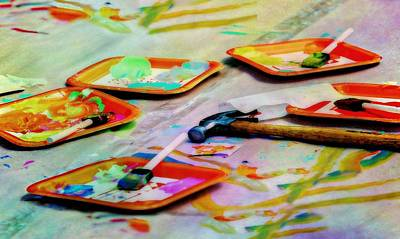 Photograph - Palette Paint by Diana Angstadt